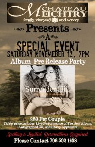 Chateau Meichtry special event for Surrender Hill